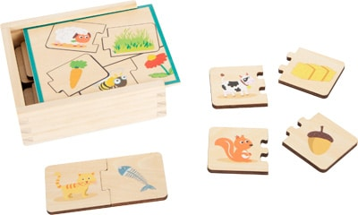 Small foot Lernspiel Holzpuzzle Tiere füttern