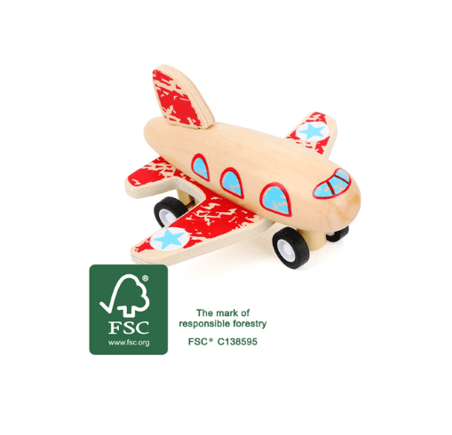 Small foot Rückziehfahrzeug Flugzeug