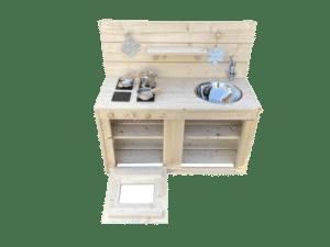 Matschküche mit Wasserhahn 90 cm